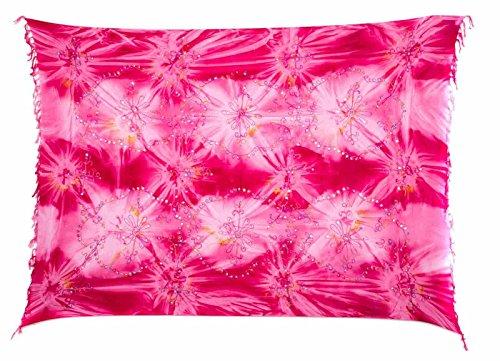 Ca 60 Modelle Sarong Pareo Wickelrock Strandtuch Tuch Wickeltuch Handtuch Bunte Sommer Muster Set Gratis Schnalle Schließe Pink Pailletten Handwäsche