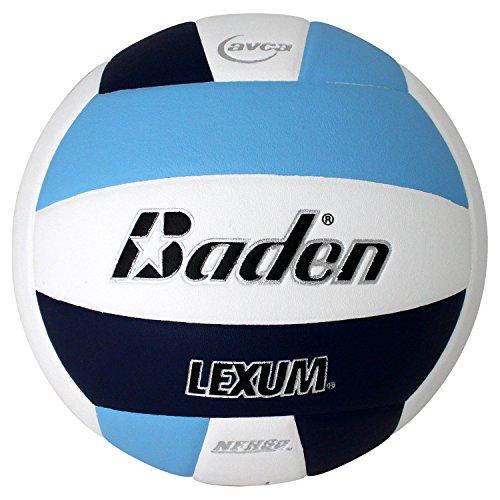 Baden Lexum Composite Game Volleyball, Carolina Blue/Navy/White