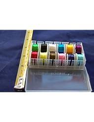 12x Bobine de Fil, Multicolore, Montage de Mouches, Pêche a La Mouche