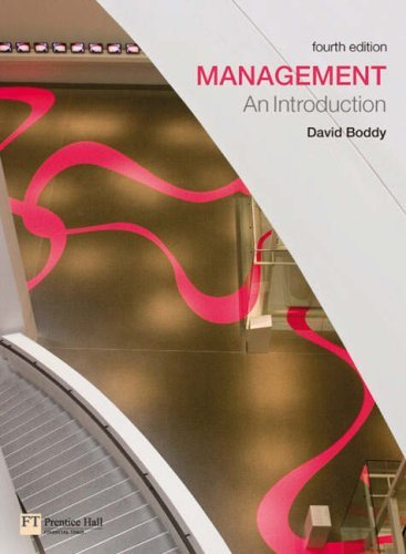 Management: An Introduction by Boddy David (2007-08-01)