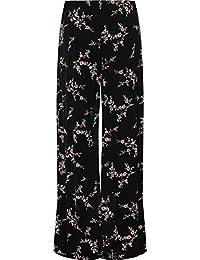 WearAll - Übergröße Damen Blumen Druck Weite Bein Palazzo Hosen - 11 Mustern  - Größen 44 367b42c709