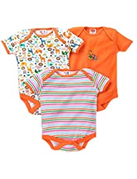 ebd8a1da3331 EIO® Newborn Baby Boy Girl Multi-Color Cotton Short Sleeve Romper Jumpsuit  Bodysuit