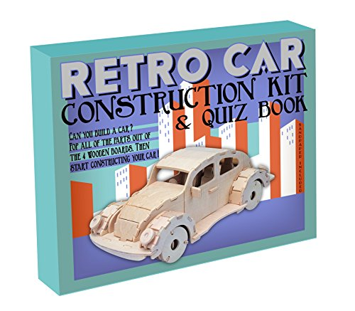 Professor Puzzle Retro Car Construction Kit with Quiz Book - two gifts in one!