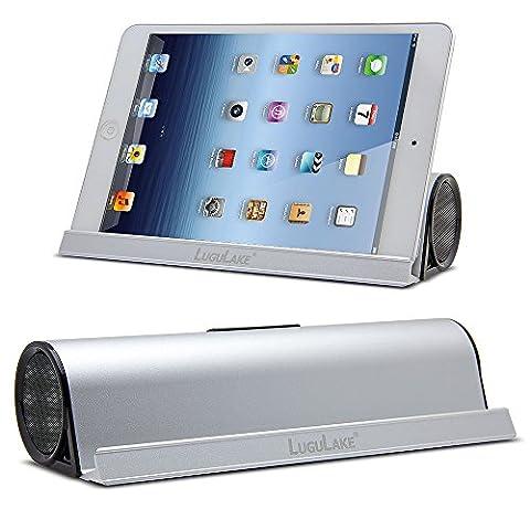 [Upgraded Version] Lugulake Ständer Tragbarer Bluetooth Lautsprecher Speaker Boombox 6W Treiber & 15-20 Stunden Wiedergabedauer & kristallklarer Klang Bluetooth 4.0