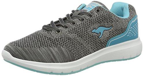 KangaROOS Damen Start One K W Sneaker Grau (Zephyr Grey/Blue Radiance)