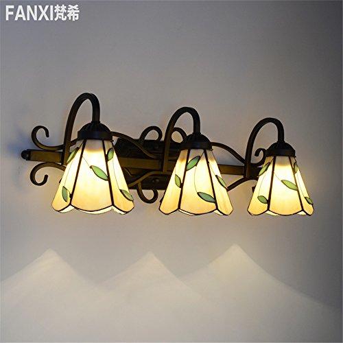 YU-K Einfache Vintage Wohnzimmer Esszimmer leuchten LED Leuchten Badezimmer Badezimmer Spiegelschrank Spiegel vorneWandleuchte Mirror Wandleuchte (58 * 21 CM) -
