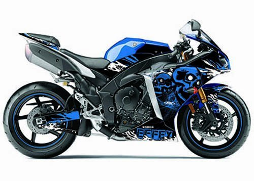 Factory Effex (17-18212-ss) Skull Series blau Komplett Street Bike Graphic Kit von Factory Effex -