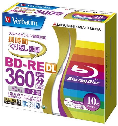 verbatim-mitsubishi-50-go-2-x-vitesse-bd-re-blu-ray-disque-de-feutre-lot-de-10aeurjet-dencre-imprima