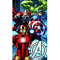Avengers (Los Vengadores) - Toalla de baño/playa de 75 x 150 cm - Diseño metálico