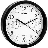 Elbe RP-1005-N - Reloj de pared con termómetro y higrómetro