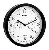 Elbe RP-1005-N - Reloj de Pared con termómetro y