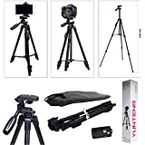 CELIXO Premium High Quality VCT-5208 Tripod With Bluetooth Remote Control Shutter For Mobile Phones, DSLR, And Sports Cameras