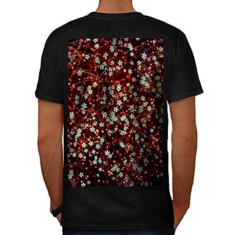 Rot Blume Muster Natur Erde Natur Herren XL T-shirt Zurück | Wellcoda