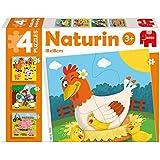 Diset - 69977 - 4 Puzzles - Naturin Ferme