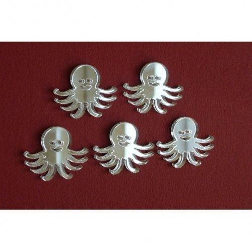 Super Cool Creations 5x Octopus Spiegel 4cm x 3cm
