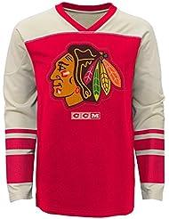 """Chicago Blackhawks CCM NHL """"Better Days"""" Youth Jeunes Long Sleeve Crew Shirt Chemise"""