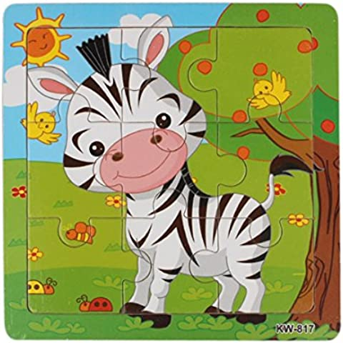 Legno Zebra Puzzle, puzzle FEITONG Giocattoli per l'istruzione dei bambini e l'apprendimento Giocattoli
