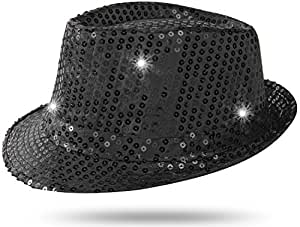 Extravagant seiler24 tribly avec chapeau noir carnaval ampoules lED et paillettes
