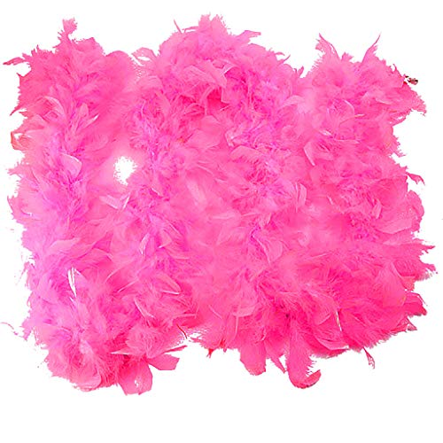 Ranger Zombie Power Kostüm - Sllowwa Damen Qualität Weiße Federboa Flapper Hen Night Burlesque Bar Dance Party Zeigen Mode Kostüm Fringe Trim Langen Schal(Rosa,180x2)