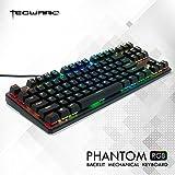 Tecware Phantom 87 chiave tastiera meccanica, RGB LED Outemu Blue (US Layout ANSI)