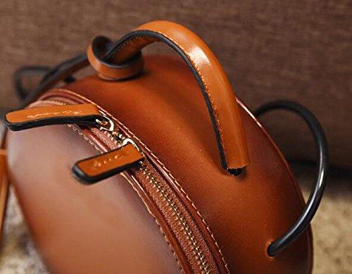 Fabelhaft Neue Personality Mini Kleine Runde Tasche Korean Fashion Schultertasche Brown