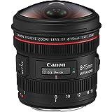 Canon EF 8-15mm f/4L Fisheye USM - Objetivo para Canon (distancia focal 8-15mm, apertura f/4-22, zoom óptico 1.9x,) negro