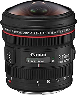 Canon EF 8-15mm f/4L Fisheye USM - Objetivo para Canon (Distancia Focal 8-15mm, Apertura f/4-22, Zoom óptico 1.9X,) Negro (B0040YEFKI) | Amazon Products