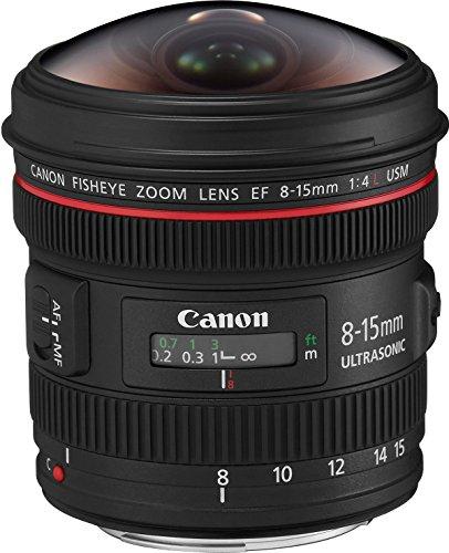 Canon Obiettivo Grandangolare con Zoom, EF 8-15mm f/4L Fisheye USM, Nero [Versione Canon Pass Italia]