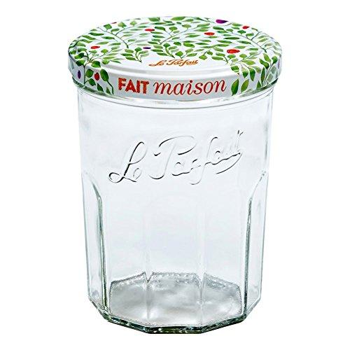 Le Parfait Marmeladengläser und Marmelade Töpfe-facettiert French Glas Jelly Gläser-Verbraucher Packungen fein 385ml - 13oz - Berry farblos Pint Mason Jelly