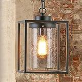 LIANBIAN lampadari creativi,lampadari a soffitto American Country contratta Soggiorno Ristorante Terrazza, Ferro battuto lampadario Industria del Vetro lampade a Sospensione