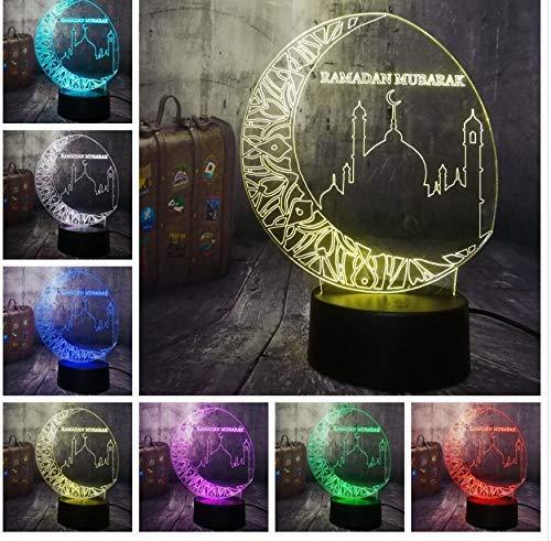 Nachtlicht 3D Nachtlicht Segen Beste Wünsche Islam Grüße Led Schlaflampe Wohnkultur Geburtstag Weihnachtsgeschenk