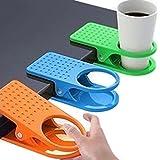 3Pack colores escritorio taza soporte para regazo Mesa Portátil carpeta cuadro Manager para café bebida taza de agua botellas soporte con sujeción fuerte Color al azar soportes para hogar y oficina