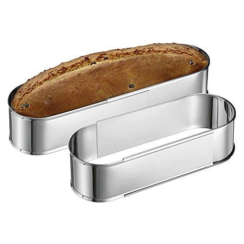 cornice torte ovale acciaio inox estensione 27-40cm