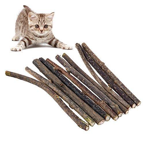 broadroot 100natürlichen Katzenminze Pet Katze Reinigung Stick Kit 12x 1cm -