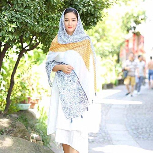 Transer ® Femelle Écharpes,Hot Sale Femmes Papillon Impression Coton Sarong Wrap Châle style Écharpes Gris
