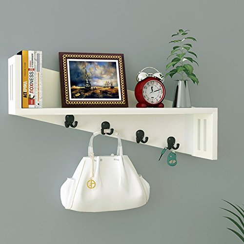 White Wooden Wall Shelf / Wall Shelves