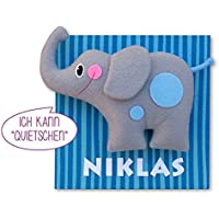 "Türschild ""Quietsche""-Elefant mit Wunschname"