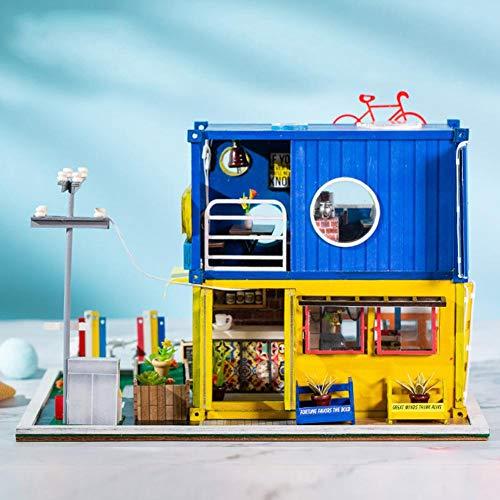 Juman634 DIY Villa Abbildung Modell Kind Gebäude Modell Innovative Container Handgemachte Valentinstag Dekoration Puzzle Spielzeug Gehirn Spiel