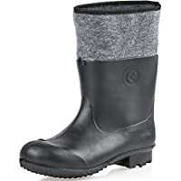 Ladeheid PVC Felt Boots Rubber Boots Lined KL021