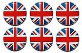 Union Jack Kreis Kühlschrank Magnete (25mm) reinigen oder Vintage Stil–hergestellt in Großbritannien–von Button Zombie, stahl, Clean, 25mm (1 Inch)