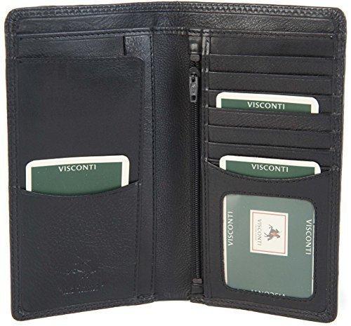 Portafoglio Visconti in pelle morbida Lungo Slim da viaggio con 8 carte di  credito da uomo 0460e31ded9