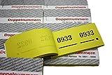 Garderobenmarken Doppelnummern Nr.1-1000