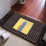 HL-PYL Skandinavische Moderne Fußmatte, Matte, WC, Schlafzimmer - Teppich,Breite 50 x Länge 80 cm,J194-05