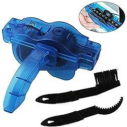 Limpiador de cadena para bicicleta BIAOZHI, herramienta de limpieza rápida para todo tipo de bicicletas con accesorios y cepillos