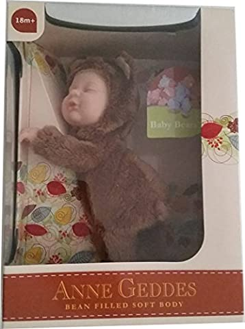 Anne Geddes Baby Brown Bear Doll / Ours Brun Poupee Bebe
