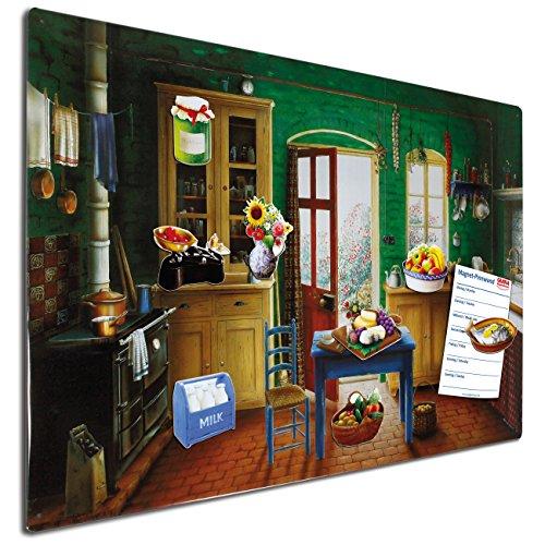 ... Magnettafel Landhausküche   60x40 Cm Groß   Blechschild Inklusive Acht  Magnete Motiv Landhaus Essen Und Trinken ...
