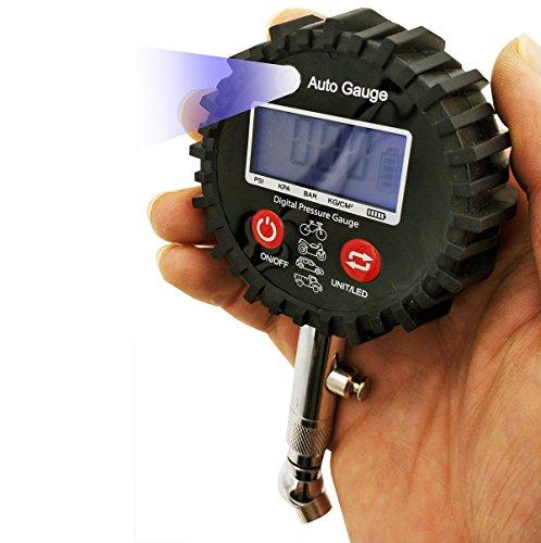 Lumiereholic Digital Reifendruckmesser Luftdruckprüfer Für Motorrad Auto 0-100psi
