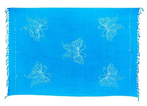Kascha Trading - Copricostume -  donna Schmetterling Hell Blau