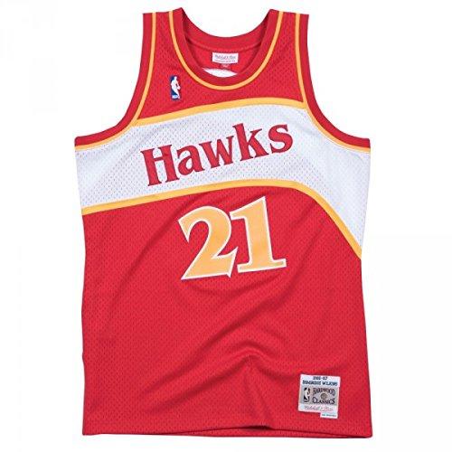 Mitchell & Ness Dominique Wilkins #21 Atlanta Hawks 1986-87 Swingman NBA Trikot Rot, L