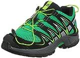 Salomon XA Pro 3D J - Zapatillas para Correr en montaña de Material Sintético para niño Verde Grün (Real Green/Black/Granny Green) 32